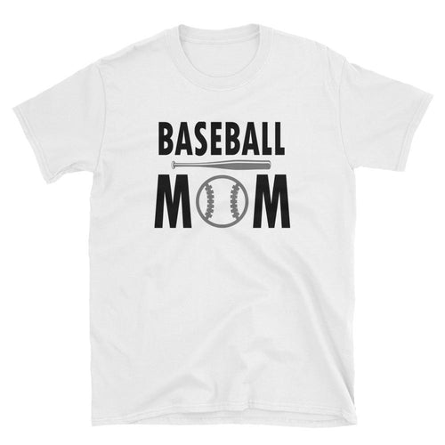Baseball Mom T Shirt White Short-Sleeve Unisex Baseball Mom T Shirt - Dafakar