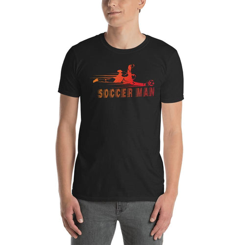 Soccer T Shirt Black Soccer Man T Shirt for Sporty Men - Dafakar