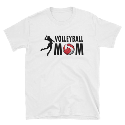 Volleyball Mom T Shirt White Volleyball Slam Dunk T Shirt Mother's Day Volley Ball T Shirt - Dafakar