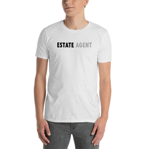 Estate Agent T Shirt White Color Realtor T Shirt Short-Sleeve Cotton T-Shirt for Property Agents