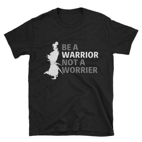 Be a Warrior T Shirt Samurai T Shirt Black Warrior T Shirt for Men - Dafakar