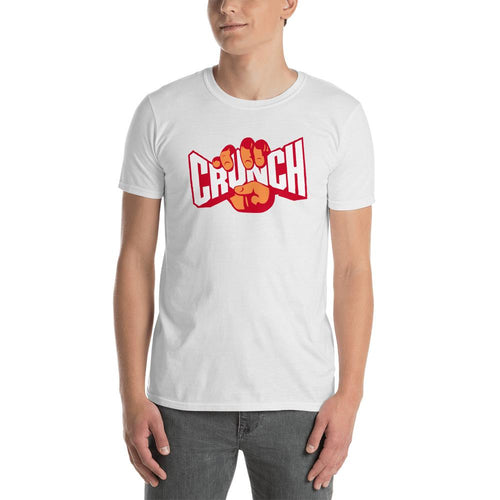 Crunch T Shirt White Fitness T Shirt Crunches T Shirt for Men - Dafakar