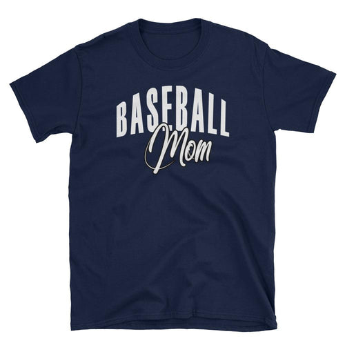 Baseball Mom T Shirt Navy Baseball Tee Gift All Sizes Including Plus Size Baseball Mum T Shirt - Dafakar