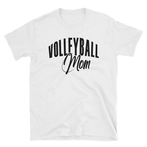 Volleyball Mom T Shirt White Volleyball Gift T Shirt for Sporty Mums - Dafakar