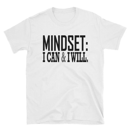 Mindset T Shirt White Mindset, I Can Do it & I Will Do It T Shirt for Women - Dafakar