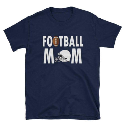 Football Mom T Shirt Navy Unisex Sporty Mother Gift T Shirt Football Mum T Shirt - Dafakar