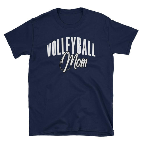 Volleyball Mom T Shirt Navy Volleyball Gift T Shirt for Sporty Mums - Dafakar