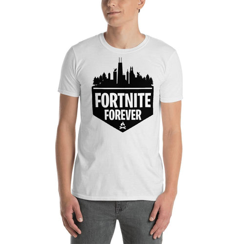 Fortnite T Shirt White Fortnite Forever Gaming T Shirt for Geek Men