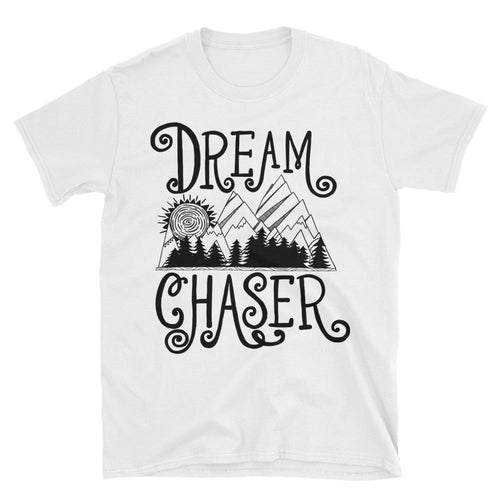 Dream Chaser T Shirt White 100% Cotton T Shirt for Men - Dafakar