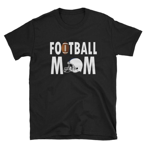 Football Mom T Shirt Black Unisex Sporty Mother Gift T Shirt Football Mum T Shirt - Dafakar