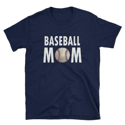 Baseball T Shirt Mother's Day T Shirt Gift Idea for Women Navy Unisex Baseball Mother T-Shirt - Dafakar