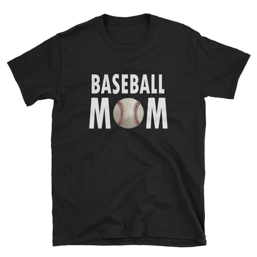 Baseball T Shirt Mother's Day T Shirt Gift Idea for Women Black Unisex Baseball Mother T-Shirt - Dafakar