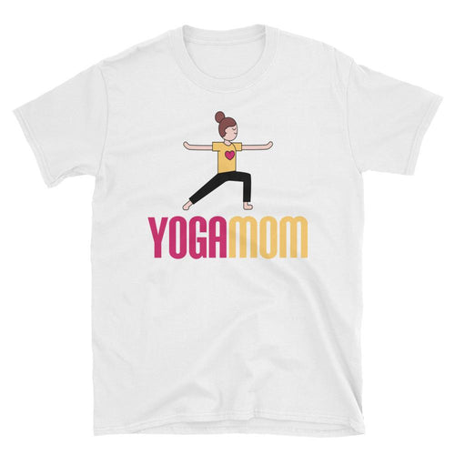 Yoga Mom T Shirt White Spiritual Yoga T Shirt T Shirt for Mum - Dafakar