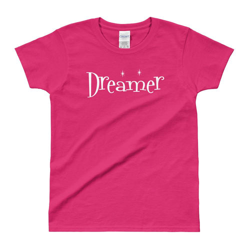 Dreamer T Shirt Pink Magical Dreamer T shirt for Women - Dafakar