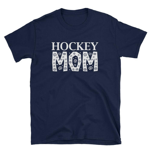 Hockey Mom T Shirt Navy Unisex Hockey Mom T Shirt Sporty Mom Tee - Dafakar