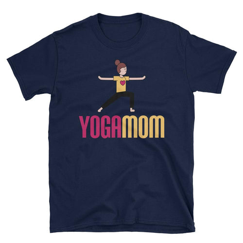 Yoga Mom T Shirt Navy Cotton Spiritual Yoga T Shirt T Shirt for Mum - Dafakar