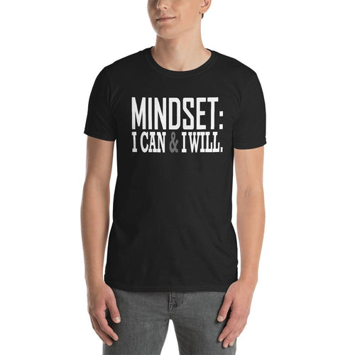 Mindset T Shirt Black Mindset, I Can Do it & I Will Do It T Shirt for Men - Dafakar
