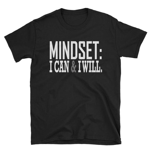 Mindset T Shirt Black Mindset, I Can Do it & I Will Do It T Shirt for Women - Dafakar
