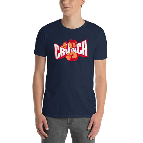 Crunch T Shirt Navy Fitness T Shirt Crunches T Shirt for Men - Dafakar