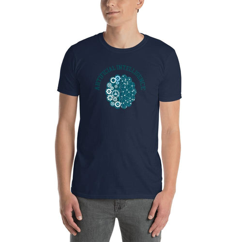 Artificial intelligence T Shirt Navy AI Geek T Shirt for Men - Dafakar
