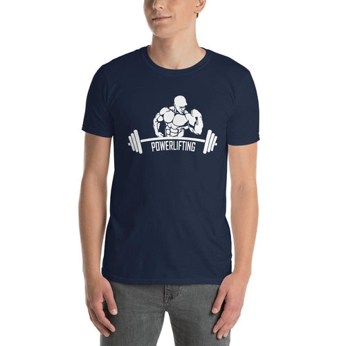 Power Lifting T Shirt Navy Gym T Shirt Fitness T Shirt for Men - Dafakar