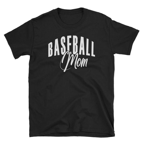 Baseball Mom T Shirt Black Baseball Tee Gift All Sizes Including Plus Size Baseball Mum T Shirt - Dafakar