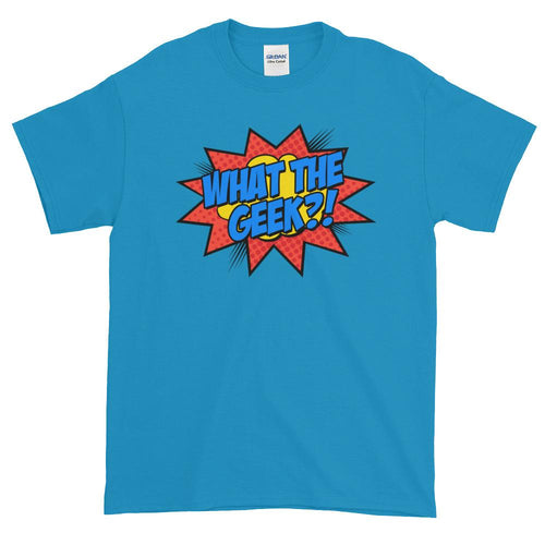 What The Geek T Shirts Blue What The Nerd T Shirt for Men - Dafakar