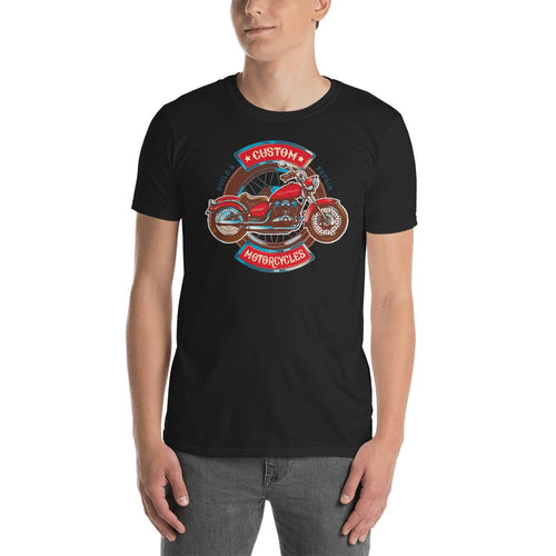 Custom Retro Vintage Motorcycle T Shirt Black Triumph Biker T Shirt for Men - Dafakar