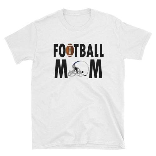 Football Mom T Shirt White Unisex Sporty Mother Gift T Shirt Football Mum T Shirt - Dafakar