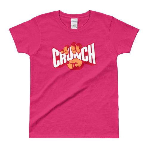 Crunch T Shirt Pink Fitness T Shirt Crunches T Shirt for Women - Dafakar
