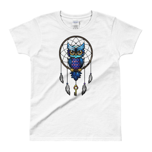 Dream Catcher T Shirt White Dream Catcher Owl T Shirts for Women - Dafakar