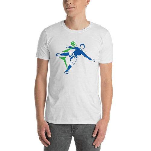 Footballer T Shirt White Center Back Footballer T Shirt for Men - Dafakar