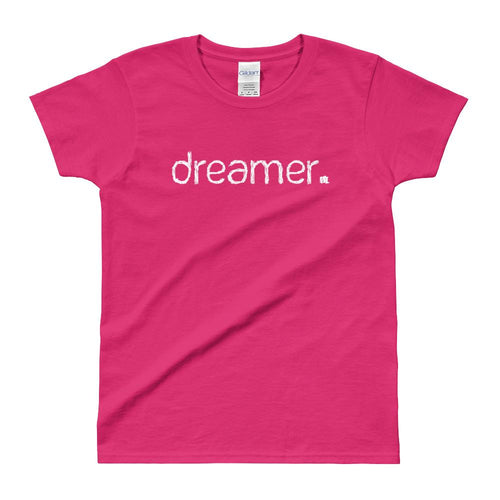 Dreamer Quote T Shirt Pink Dreamer Quote T Shirt for Women - Dafakar