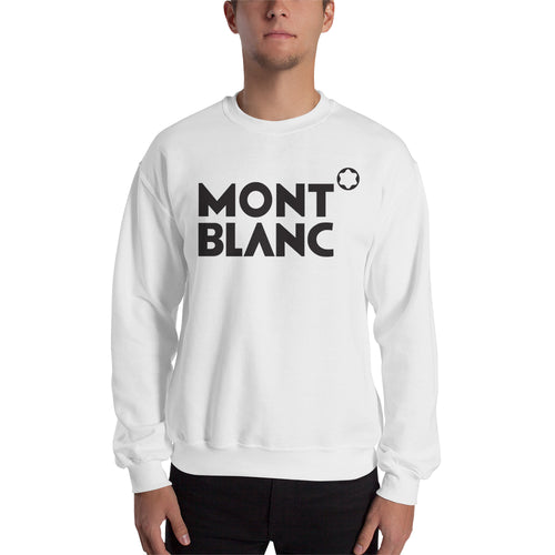 Branded Sweatshirt Mont Blanc brand Sweatshirt full-sleeve crew neck White Mont Blanc sweatshirt for men