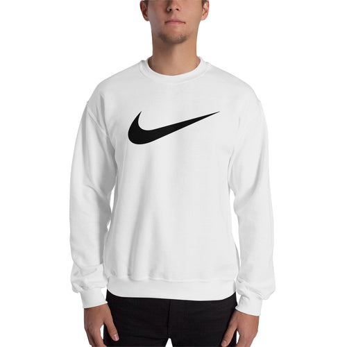 Nike Logo Sweatshirt Nike brand Sweatshirt full-sleeve crew neck White Branded sweatshirt for men