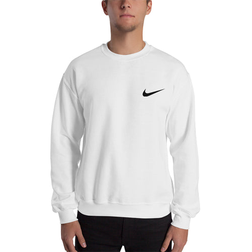 Branded sweatshirt Nike Logo Sweatshirt Nike brand Sweatshirt crew neck White full-sleeve Sweatshirt for men