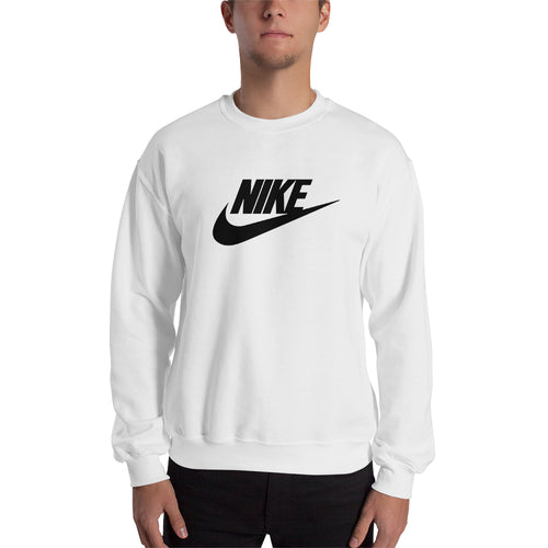 Nike Sweatshirt Nike brand Sweatshirt full-sleeve crew neck White Branded sweatshirt for men