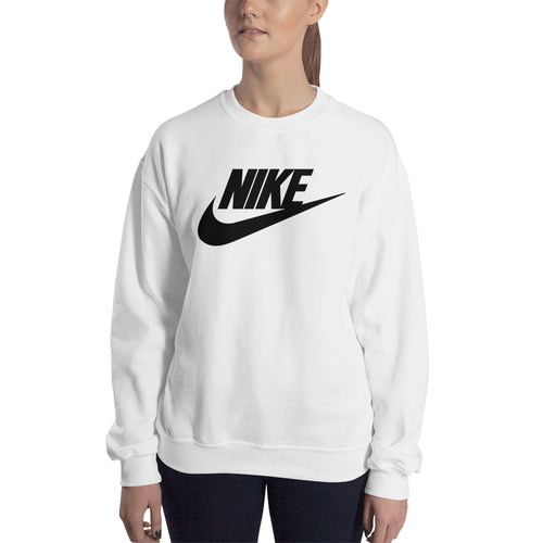 Nike Sweatshirt Nike brand Sweatshirt full-sleeve crew neck White Branded sweatshirt for women