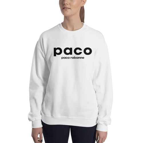 Paco Rabanne sweatshirt Logo Sweatshirt branded Sweatshirt crew neck White full-sleeve Sweatshirt for women