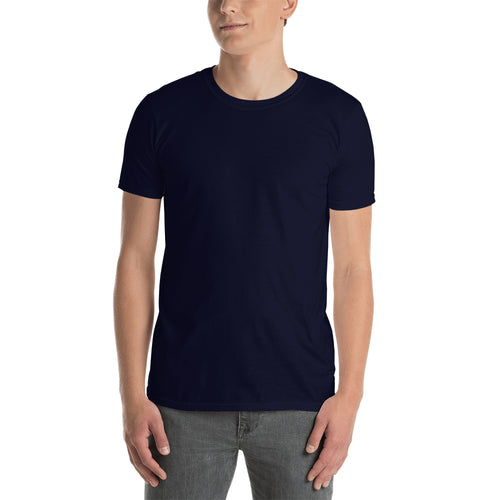 Navy Plain T shirt Navy Cotton Plain T shirt for Men