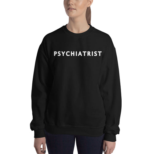 Psychiatrist sweatshirt Lady Doctor Sweatshirt Black One word doctor sweatshirt for women