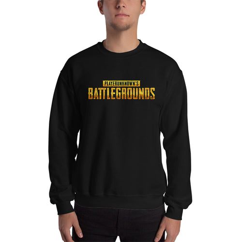 Players Unknown's Battle Ground sweatshirt PUBG Sweatshirt Black Crew Neck Gaming sweatshirt for men
