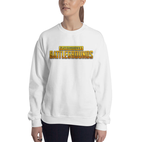PUBG Sweatshirt Players Unknown's Battle Ground sweatshirt White Crew Neck Gaming sweatshirt for women