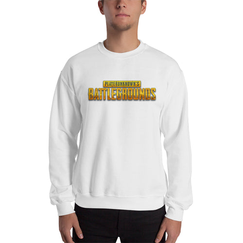 PUBG Sweatshirt Players Unknown's Battle Ground sweatshirt White Crew Neck Gaming sweatshirt for men