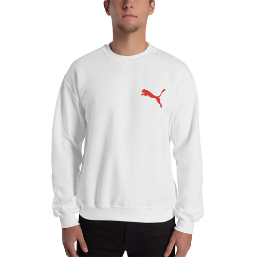Puma Branded sweatshirt Puma Logo Sweatshirt branded Sweatshirt crew neck White full-sleeve Sweatshirt for men