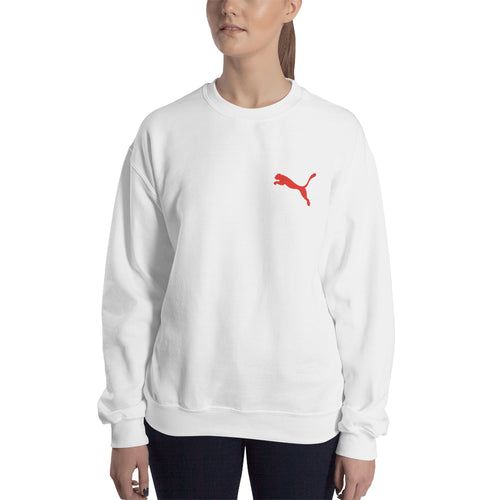Puma Branded sweatshirt Puma Logo Sweatshirt branded Sweatshirt crew neck White full-sleeve Sweatshirt for women