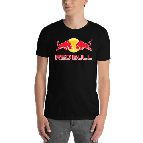 Red Bull T shirt Red bull Logo T shirt Black Half Sleeve Cotton T shirt for men