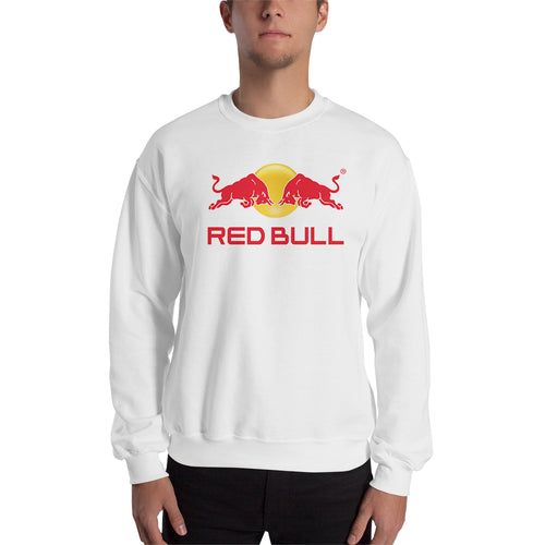 RedBull sweatshirt Redbull Branded Sweatshirt Redbull logo Sweatshirt crew neck White full-sleeve Sweatshirt for men