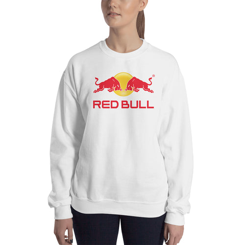 RedBull sweatshirt Redbull Branded Sweatshirt Redbull logo Sweatshirt crew neck White full-sleeve Sweatshirt for women