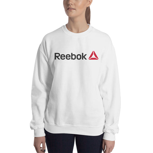 Reebok sweatshirt Reebok Branded Sweatshirt Reebok logo Sweatshirt crew neck White full-sleeve Sweatshirt for women